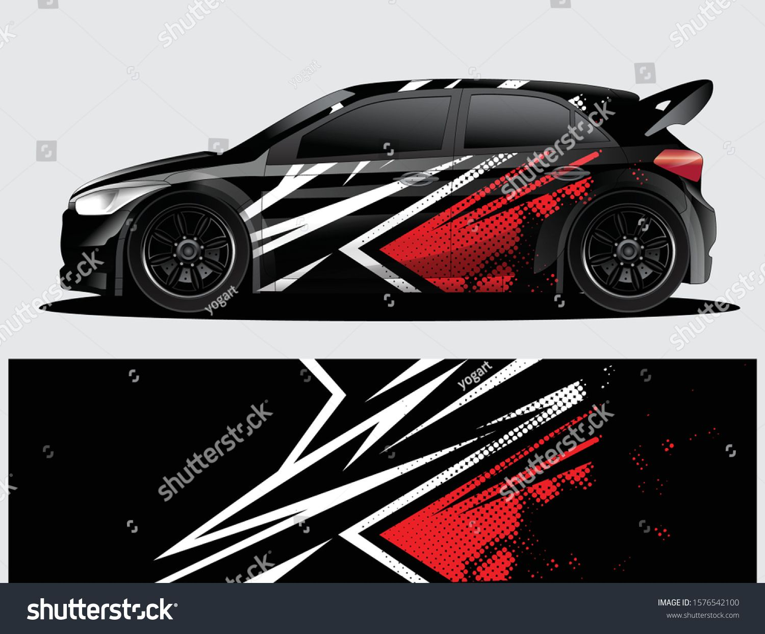 Rally Car Decal Graphic Wrap Vector Stock Vector (Royalty Free) 1576542100
