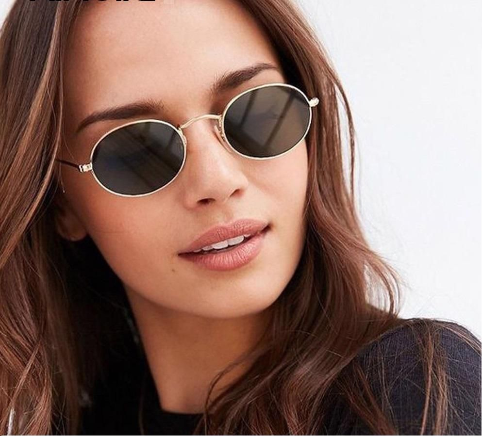 ea2cc58bd6c67 Fashion Oval Retro Women Sunglasses Vintage Shades Frame Eyewear Womens  Round  RedBean  Round
