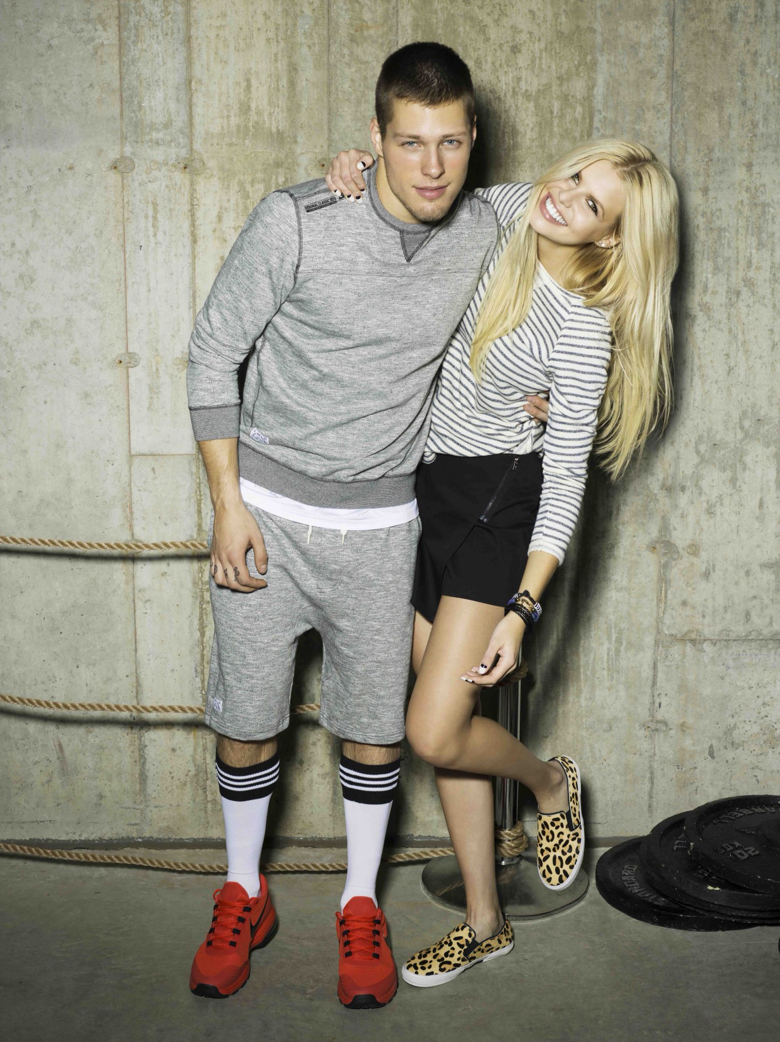 Models Katya Antonova and William Brazeau for Point Zero's ...