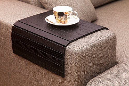 mahogany couch deals cup holder sofa the finish normswoodworkshop best tray with drink find table arm rustic on shop etsy c end
