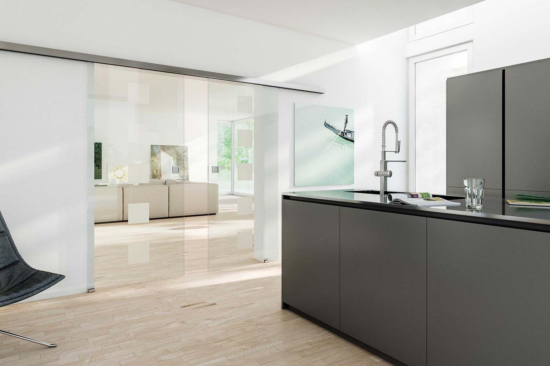 die doppelfl gelige schiebet r aus glas sieht wirklich edel aus das motiv ist brigens corbus. Black Bedroom Furniture Sets. Home Design Ideas