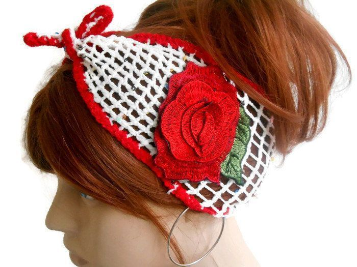 Women Knitted Hair Band Adult Headband Head Scarf Hair band Turban Head Band Headband Summer Head Band White Head Band Head Cover  Women Knitted Hair Band Adult Headband...