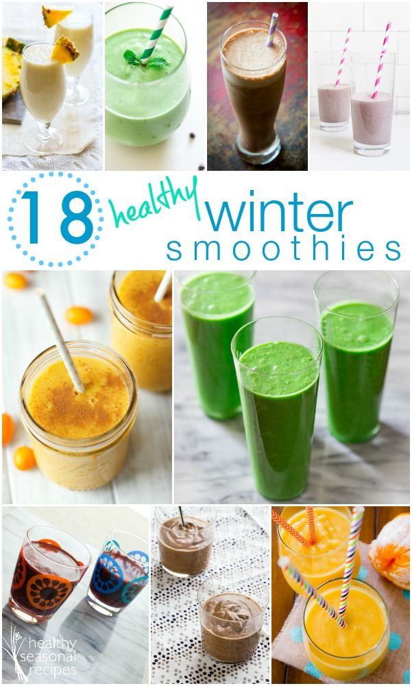 18 healthy smoothies and juices for the winter on Healthy Seasonal Recipes