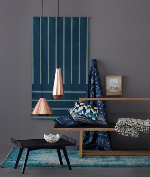 Wandfarbe Farbpalette Hornbach Wandfarben Grau Blau: Kupfer Frischt Anthrazitfarbene Wand Auf