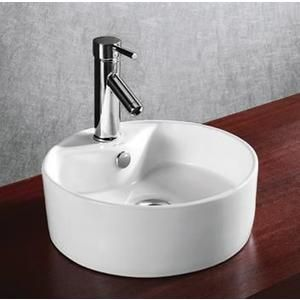 Elanti Porcelain White Above Counter Round Bowl Sink Sears