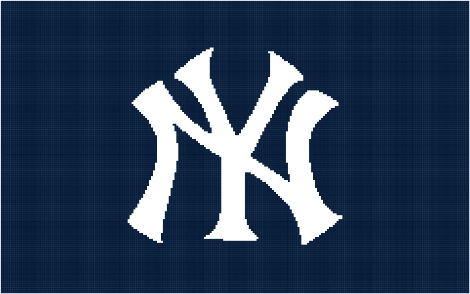 ny yankees afghan chart pdf by angelscrochetedgifts on etsy rh pinterest com new york yankees font new york yankee font download