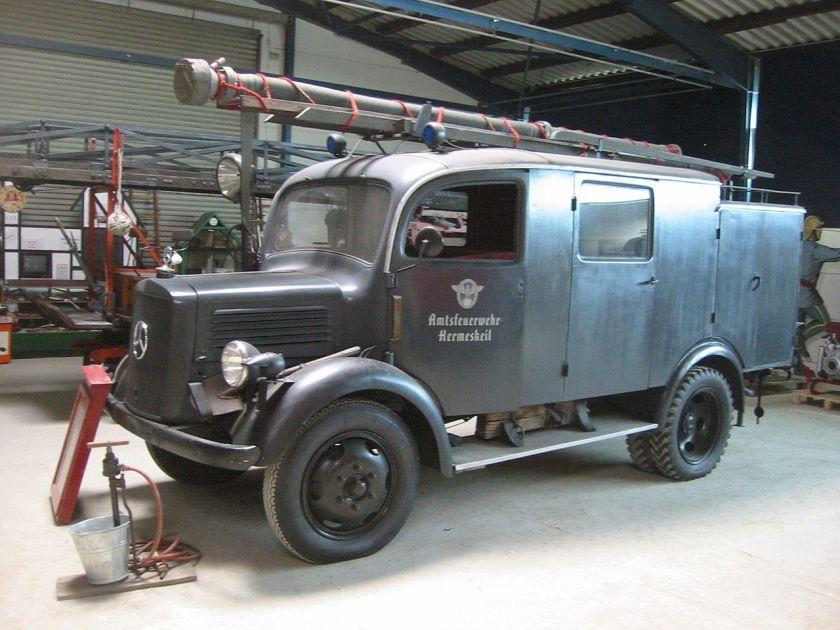 1943 mercedes benz l 1500 f feuerwehr | mercedes oldtimer