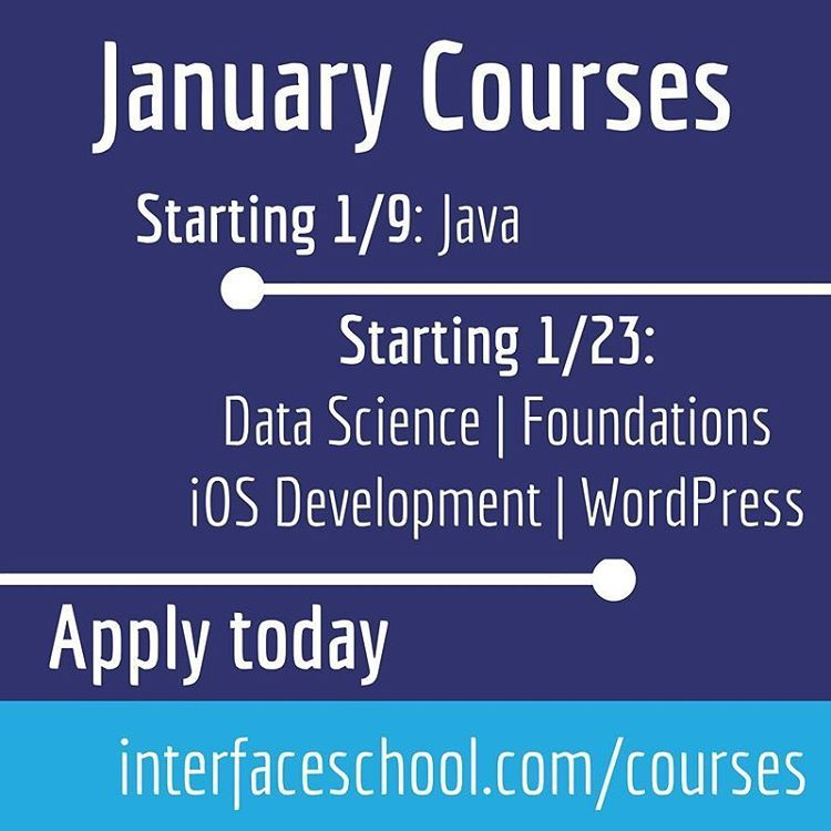 We have several courses starting in just over a month