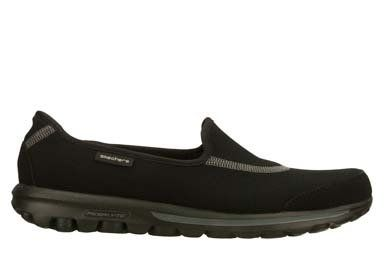 SKECHERS GO WALK PERFORMANCE RESALYTE 13510 SLIP ON SHOE WOMAN -SIZE 8 BLACK