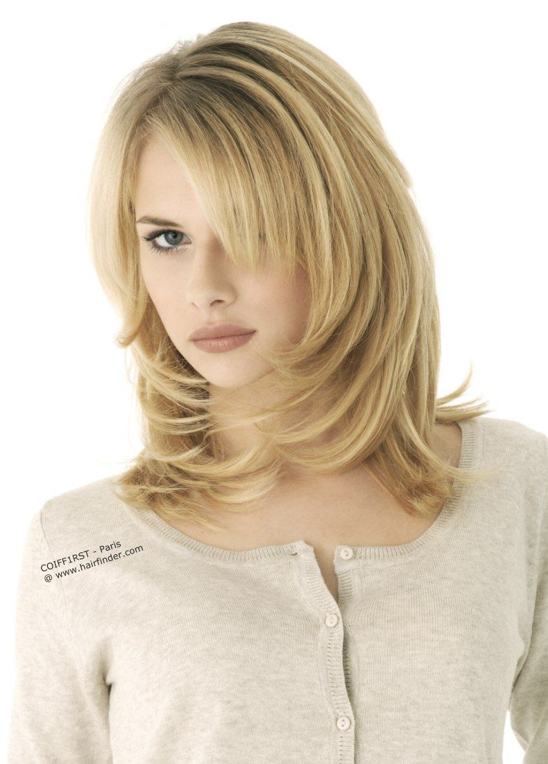 Springy Hairstyle Medium Long Tapered Haircut Hairstyles