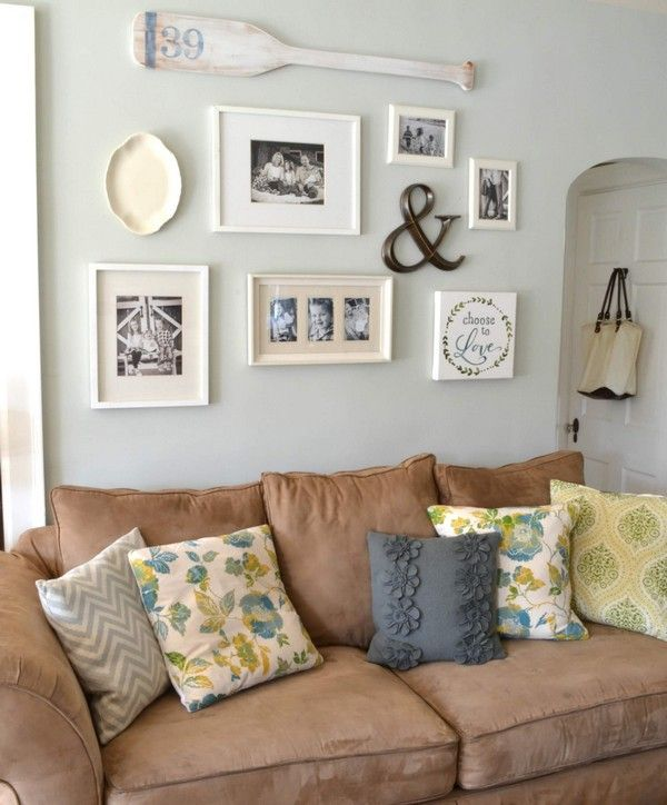 22 Eye Catching And Creative Ideas How To Decorate Above The Sofa The Art In Life Family Room Wall Decor Wall Decor Living Room Room Wall Decor Lounge room wall art ideas