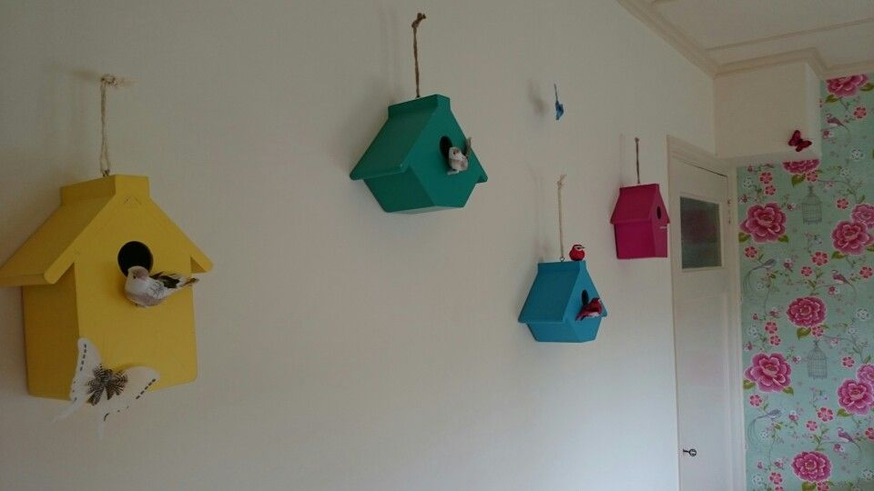 Kinderkamer Behang Vogelhuisjes : Kinderkamer slaapkamer bedroom girl birds vogelhuisjes pip