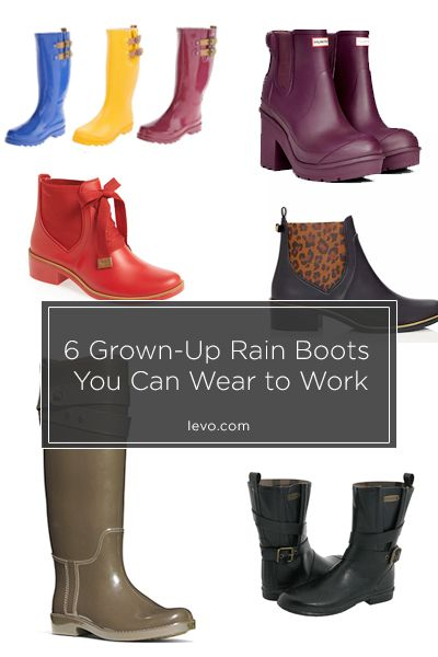 Rainy day outfit for work, Rain boots