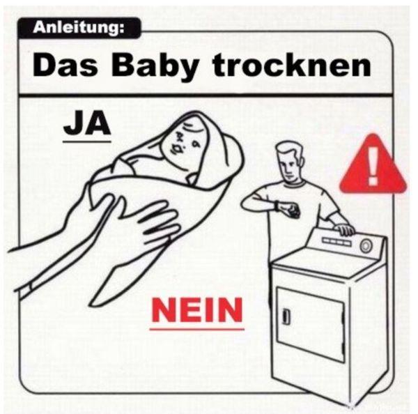 Anleitung für ein Baby