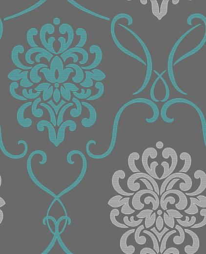 Grey And Turquoise Wallpaper