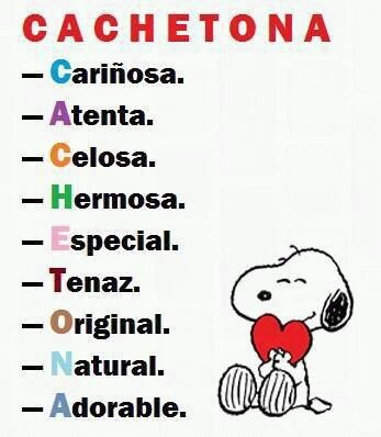 Cachetona in english