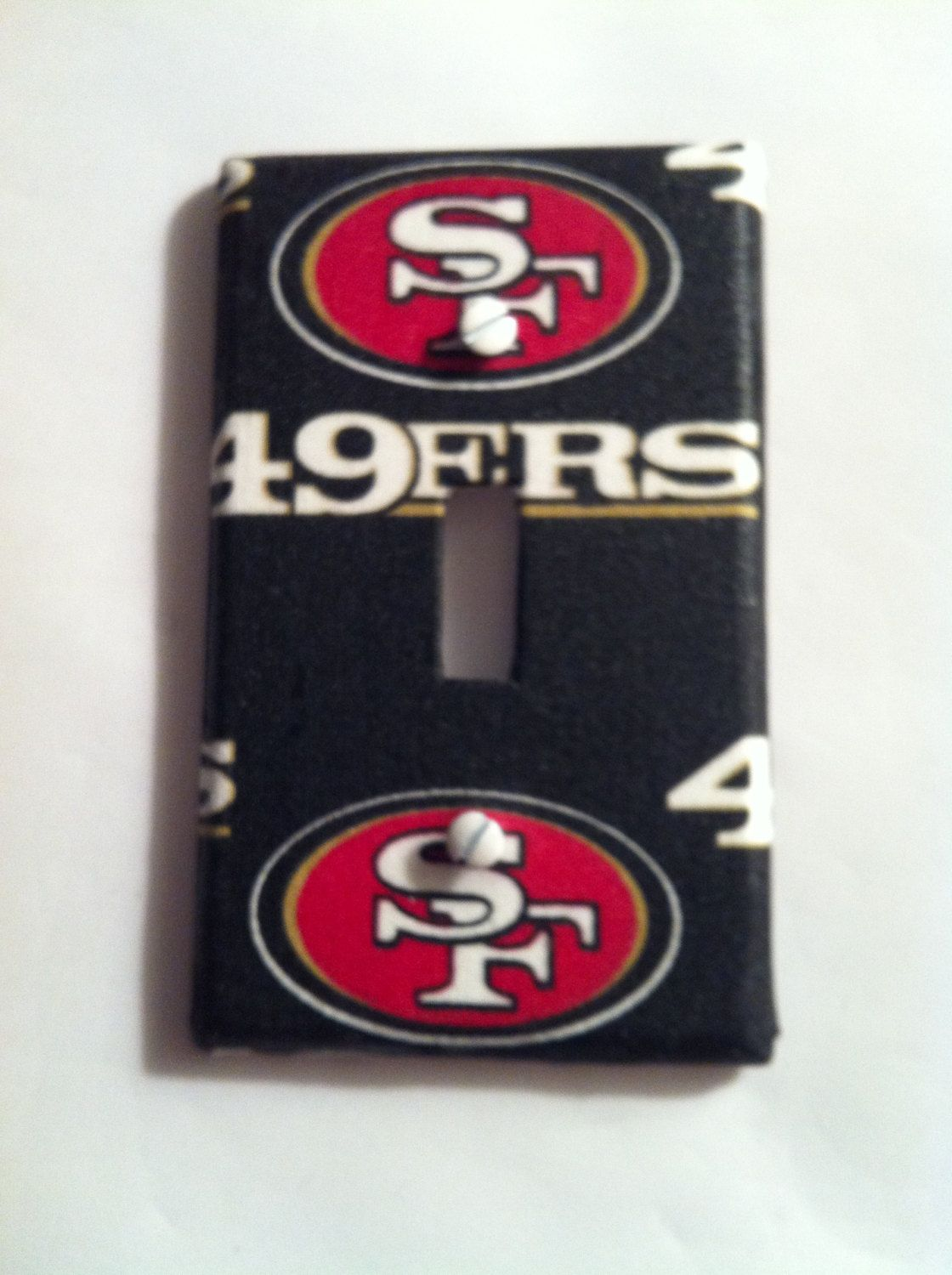 San Francisco 49ers Light Switch Cover Fan Cave Man Triple Bedroom Plate Single Double Covers By