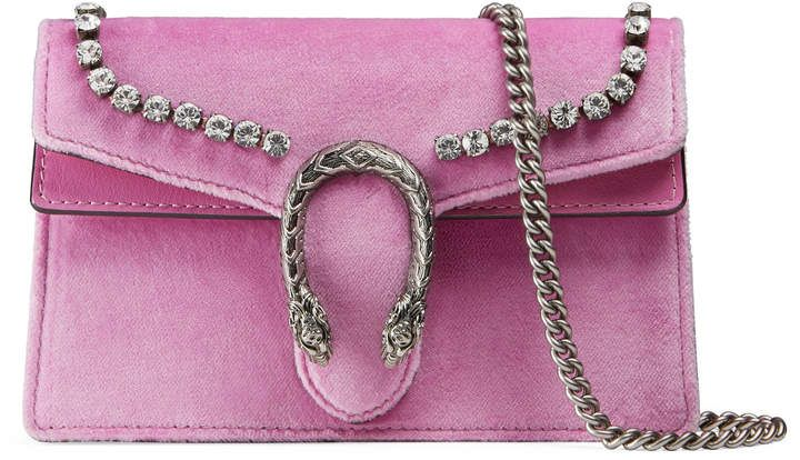 25c228fc Shop for Gucci Dionysus suede super mini bag with crystals on ShopStyle.com