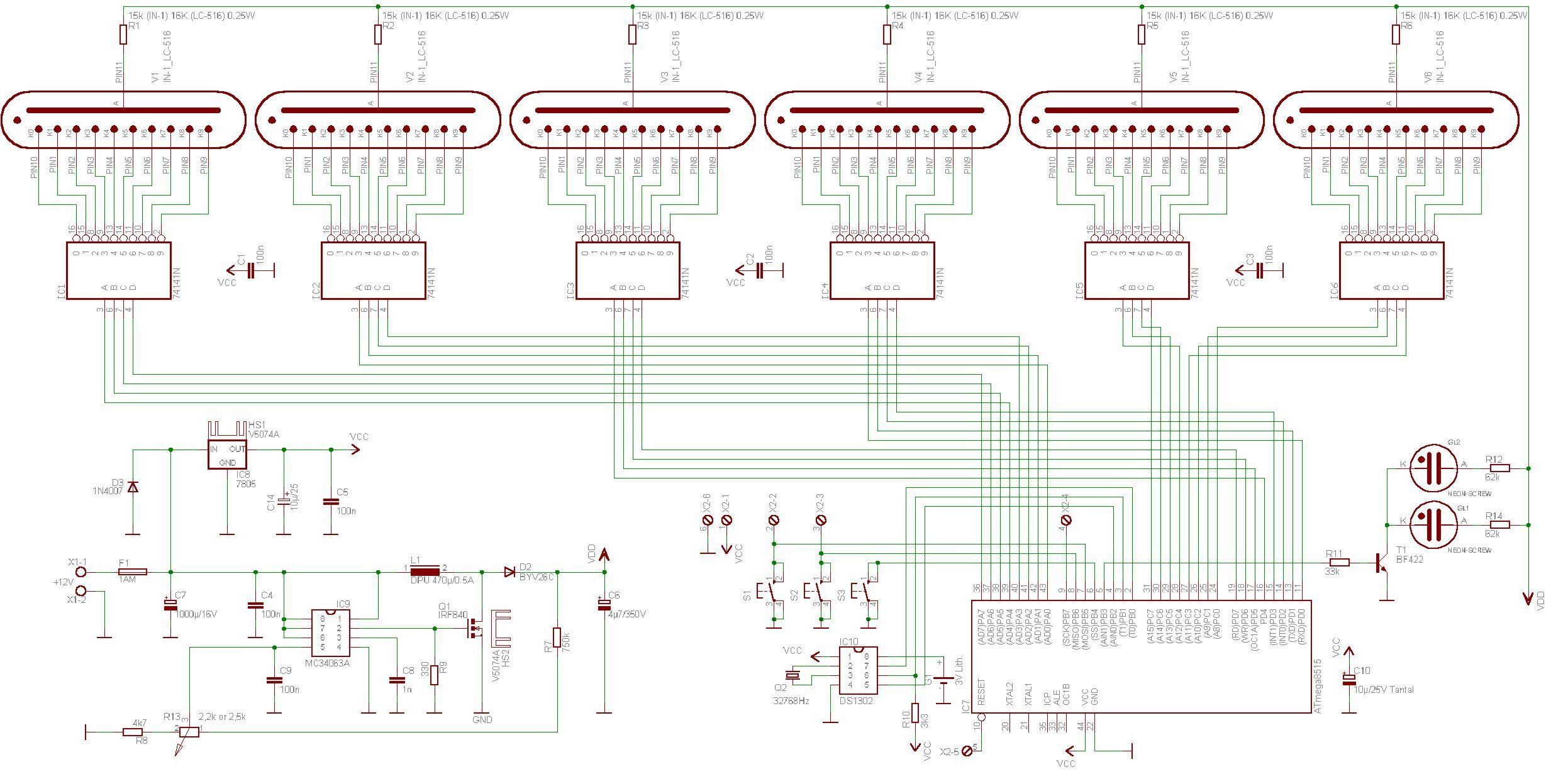 hight resolution of nixietube clock schematic wiring diagram todaynixie tube clock schematics diagram data schema pic nixie clock schematic