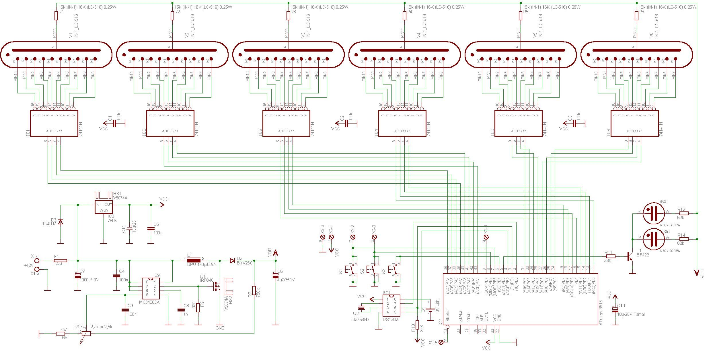 nixietube clock schematic wiring diagram todaynixie tube clock schematics diagram data schema pic nixie clock schematic [ 2493 x 1239 Pixel ]