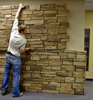 Interior Stone Wall Panels Manufactured Stone Veneer Synthetic
