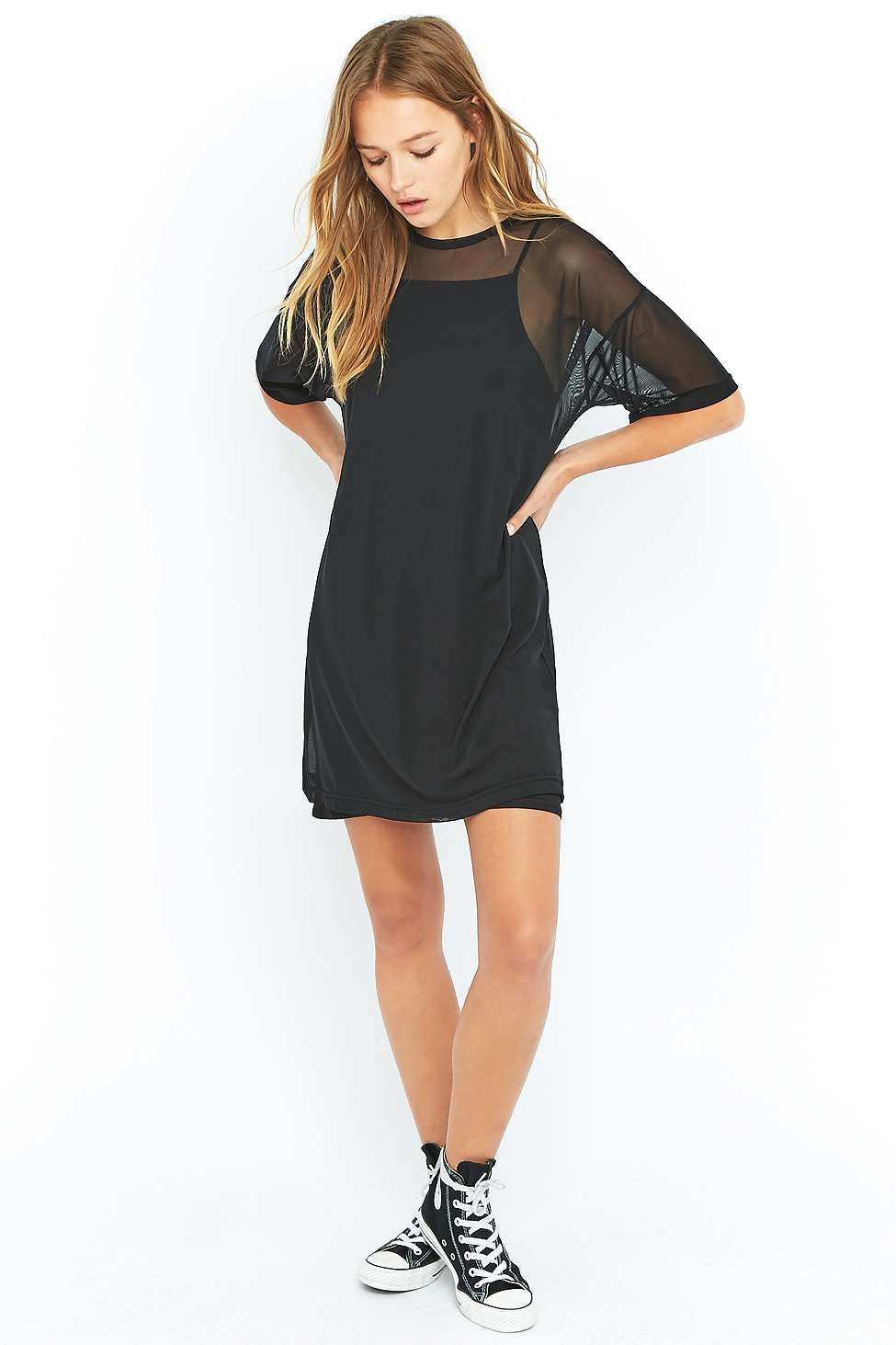 Sparkle & Fade Mesh T-shirt Dress   Robe, Urban outfitters and Urban