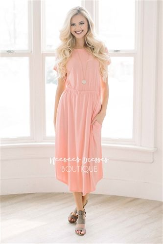f915222a2c17 This is a good one with a the peach color I like!. , modest bridesmaids  dresses, trendy modest dresses, modest womens clothing, affordable boutique  dresses, ...