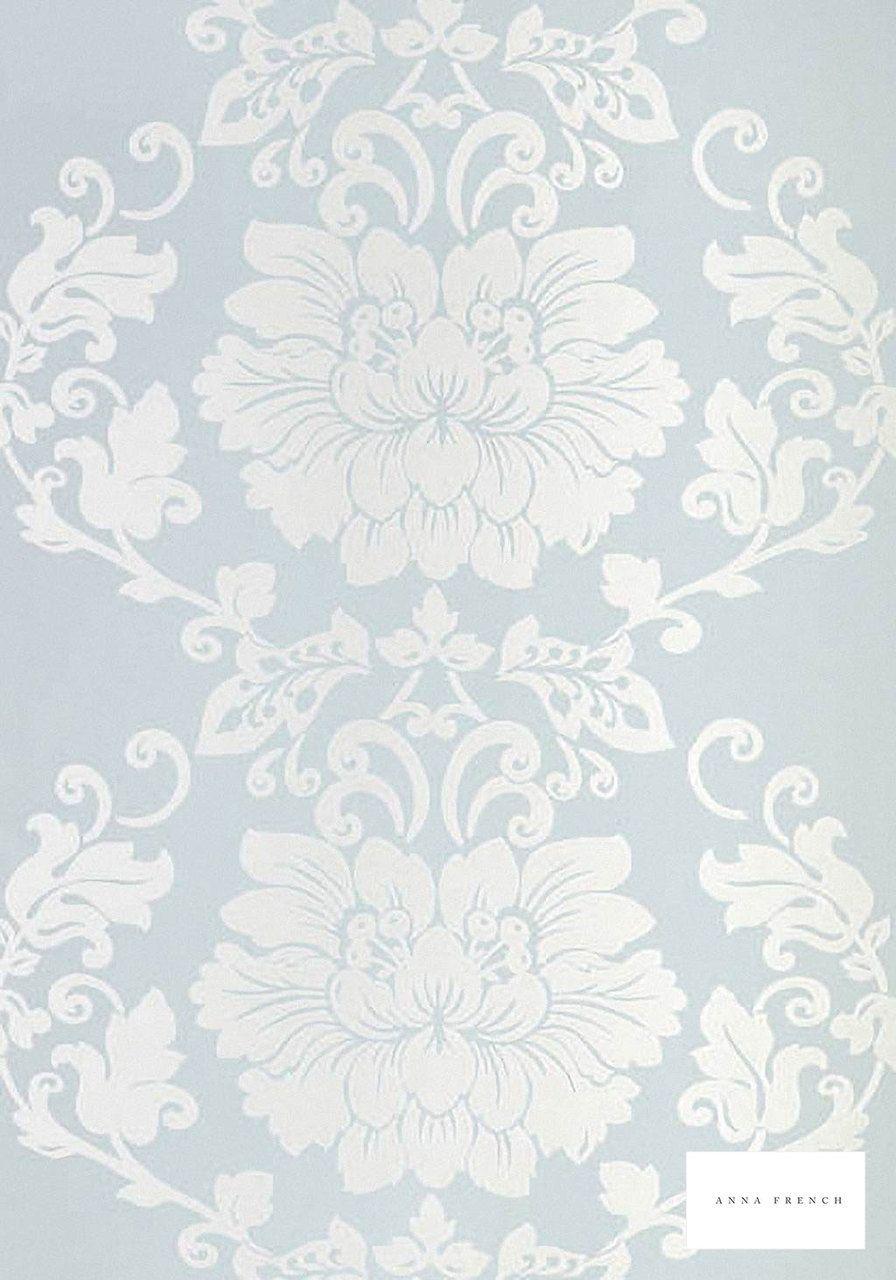 Anna French Lyric St. Germain Blue AT1463 Wallpaper