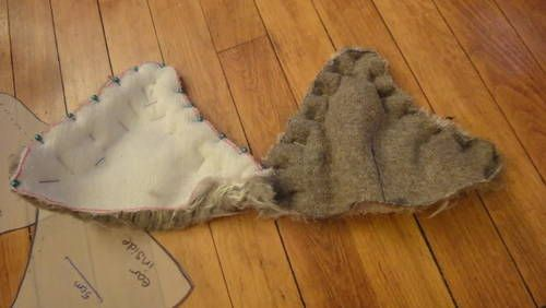 Fun fur animal hat with ears (with tutorial) - CLOTHING