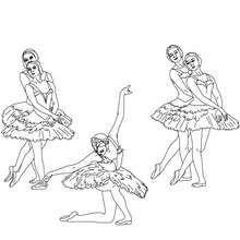 Dibujo Para Colorear Reverencia Final Del Ballet Dibujos Para