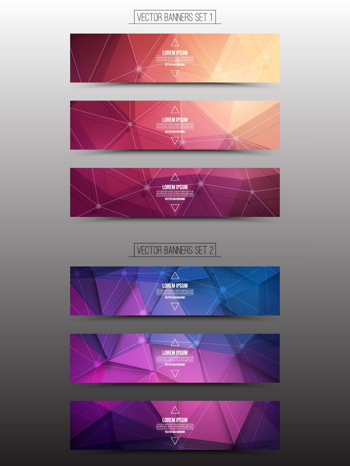 Technological Vector Web Banners | Web banners, Banners and Graphics