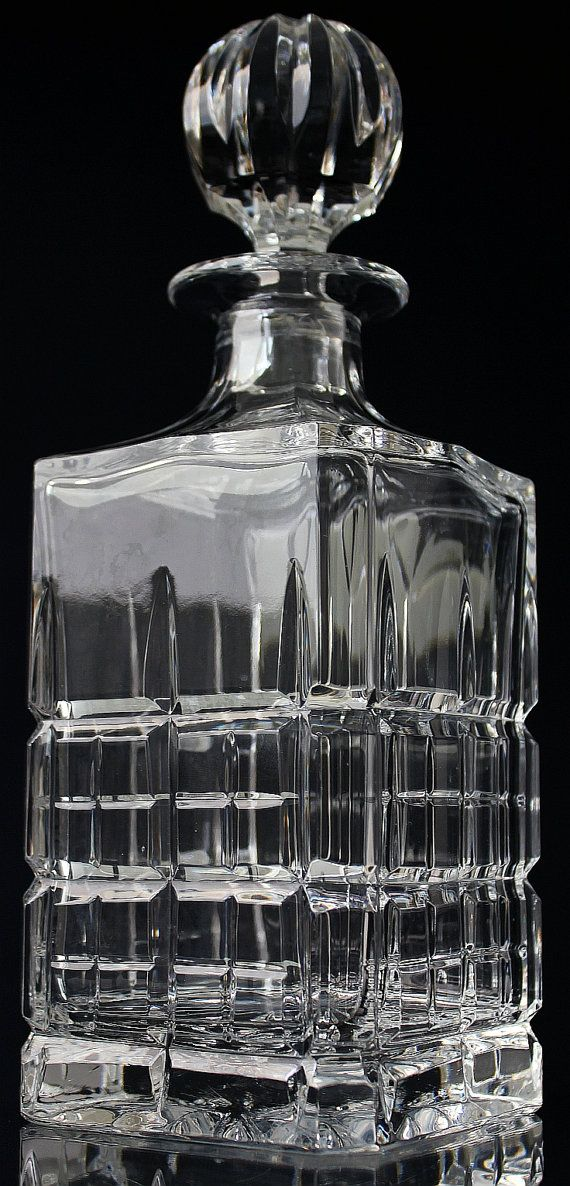 Crystal whiskey decanter cut glass liquor decanter How can i cut glass at home