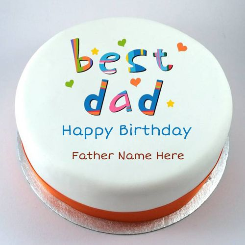 Incredible Happy Birthday Father Special Cake With Name With Images Personalised Birthday Cards Paralily Jamesorg