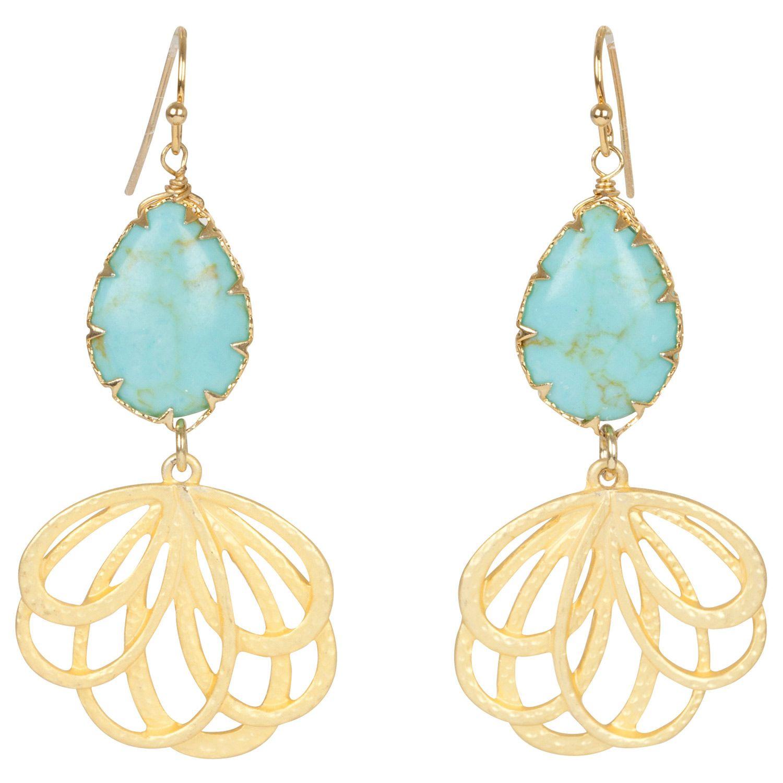 Kirra Tate Tear Drop Turquoise Earrings GSEE65542008