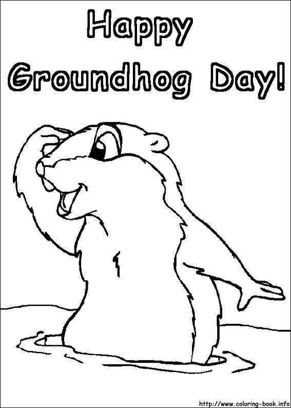 Groundhog Day coloring picture | GROUNDHOG DAY | Pinterest