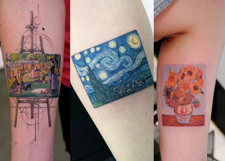 Meet The Tattoo Artist Who Recreates Famous Paintings With Ink Tattoo Artists Tattoos Painting Tattoo