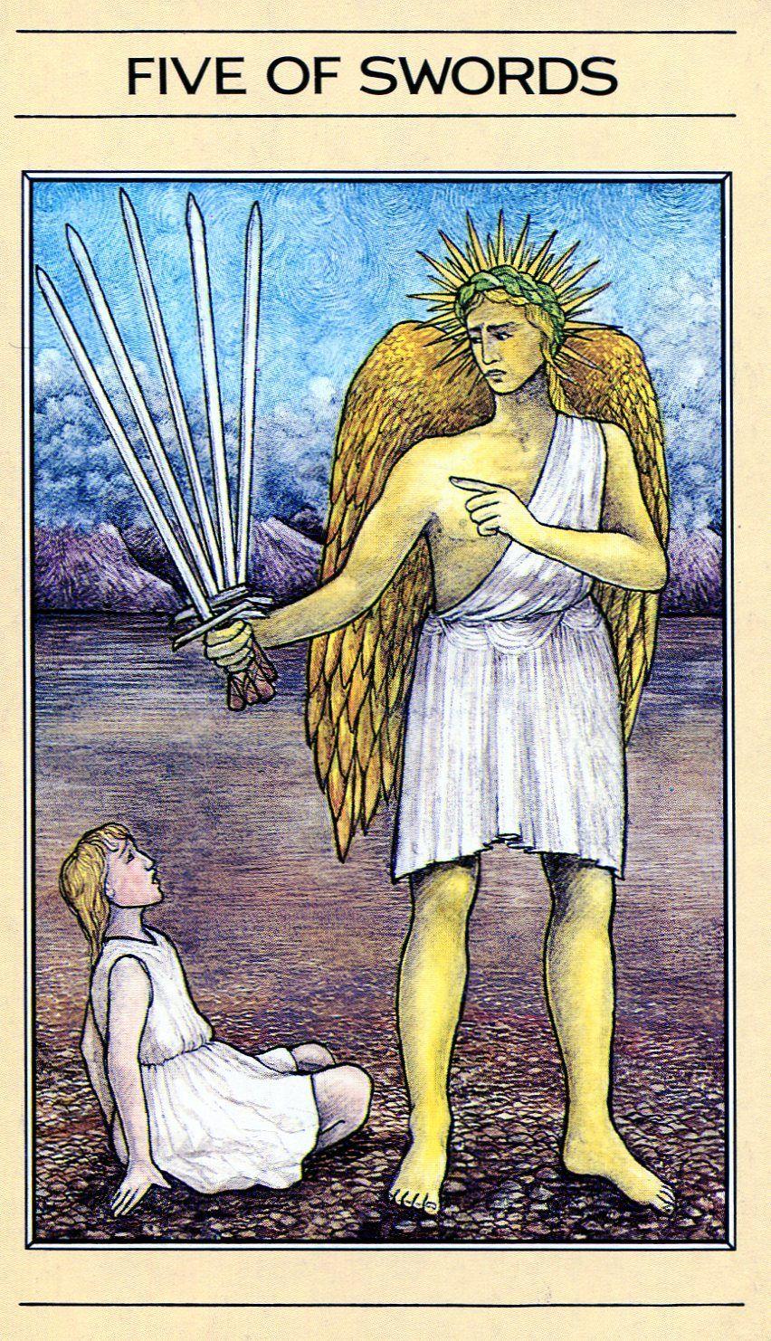 Five Of Swords - Mythic Tarot