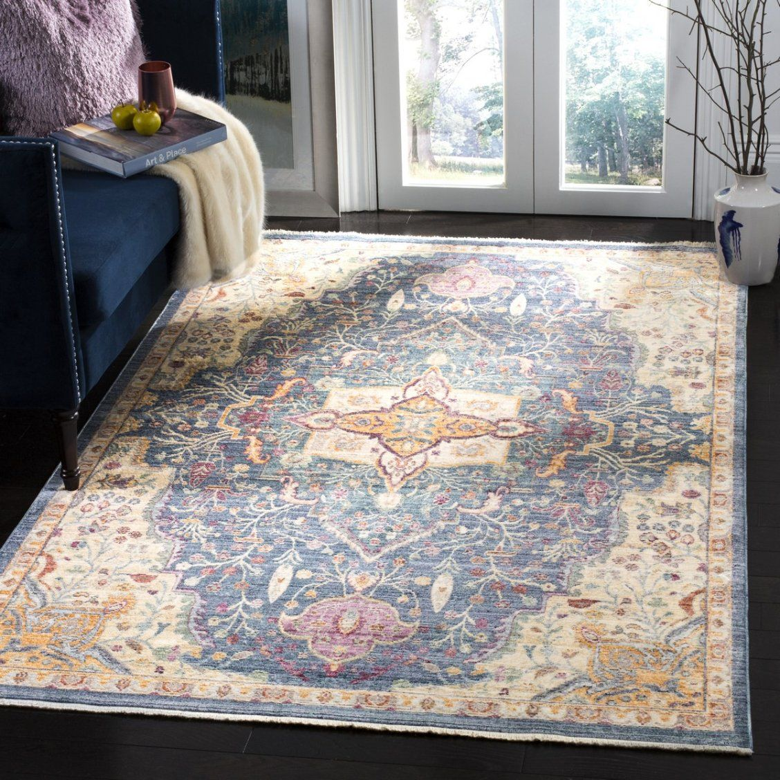 A Mod Rendition Of Traditional Rug Artistry This Illusion Area Rug Plays To Contemporary Decor Preferences Wi Purple Area Rugs Traditional Area Rugs Area Rugs
