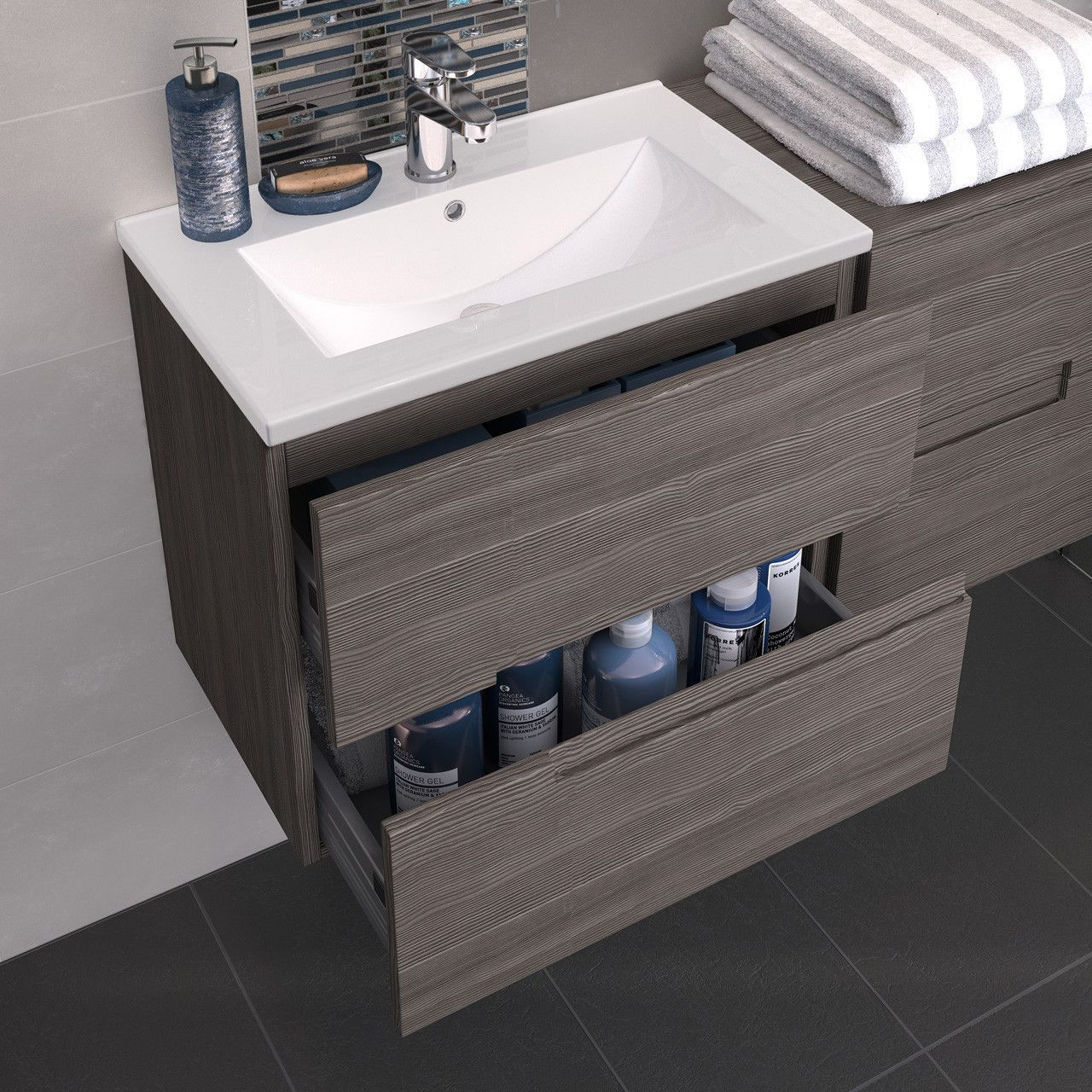 Looking For A New Basin Then This 2 Drawer Basin Vanity Unit