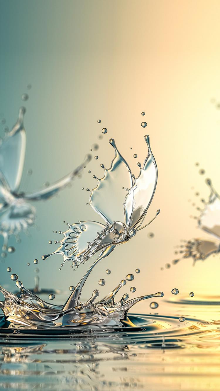 Water Butterfly Phone Wallpapers In 2019 Pinterest Water Art