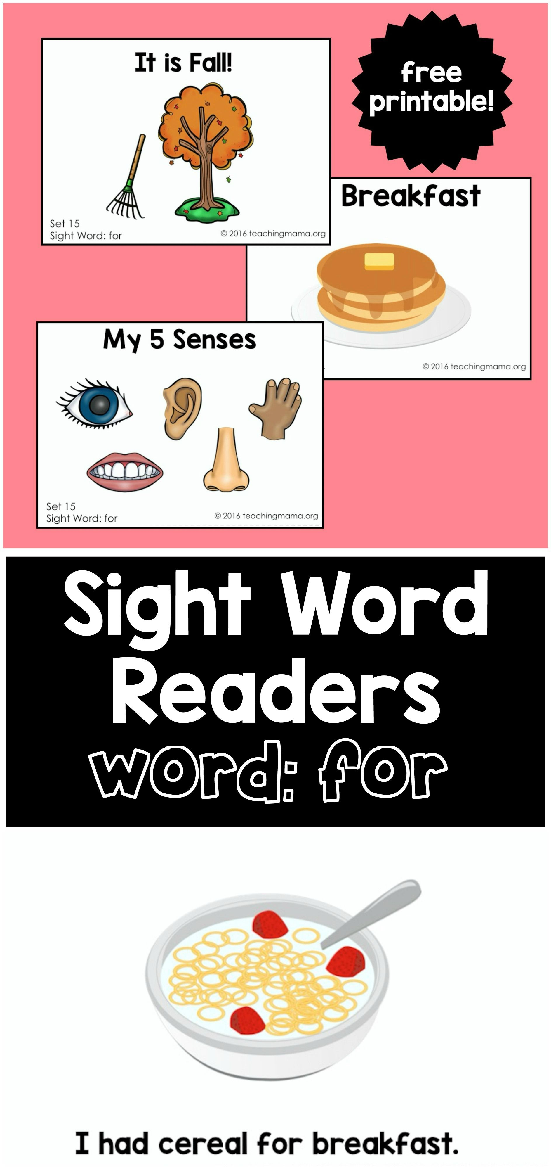 Sight Word Readers for the Word \