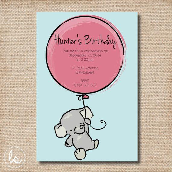 diy first birthday invitations