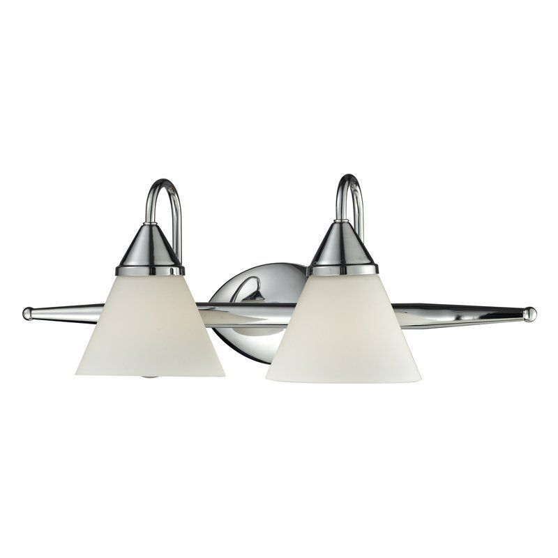 Photo of Elk Lighting 84066/2 Chrome Alpine 2 Light 21″ Vanity Fixture with Frosted Glass Shade