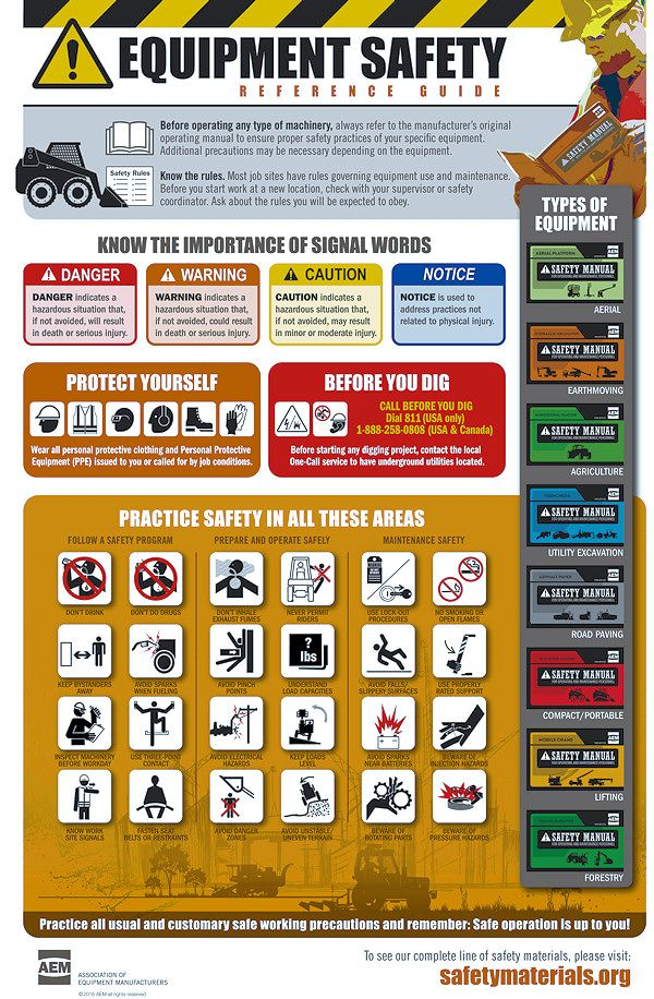 Association Of Equipment Manufacturers Offers New Safety Poster