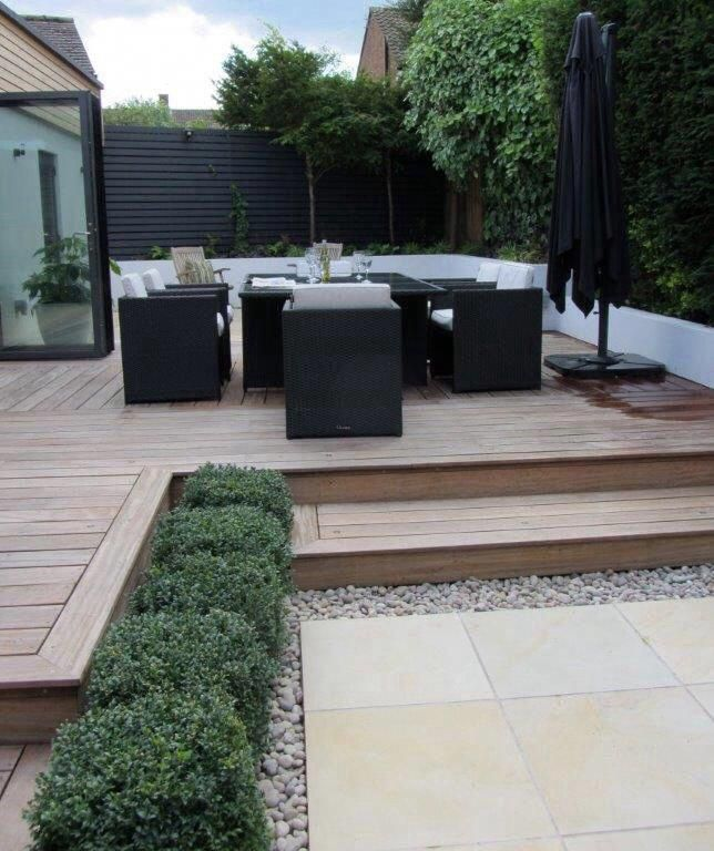 Modular Split Level Deck: I Like This Clean Look Of The Split Level Deck. Modern