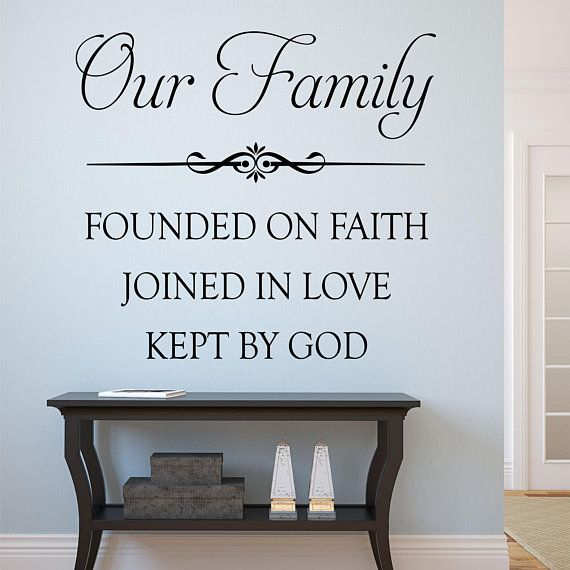 our family wall decal, family wall quote, home decoration, vinyl