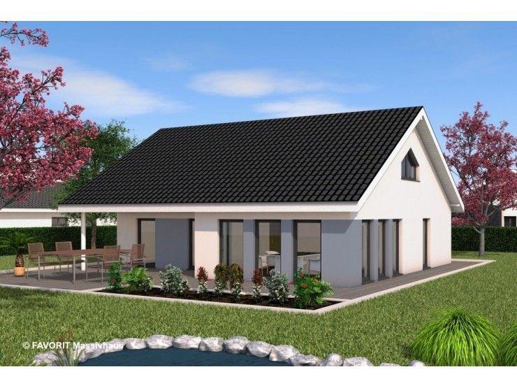 Massivhaus bungalow satteldach for Haus bauen 120qm