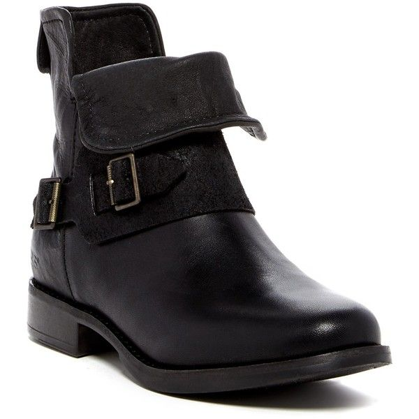 UGG Australia Cybele Genuine Lamb Fur Ankle Boot ($140) ❤ liked on Polyvore  featuring