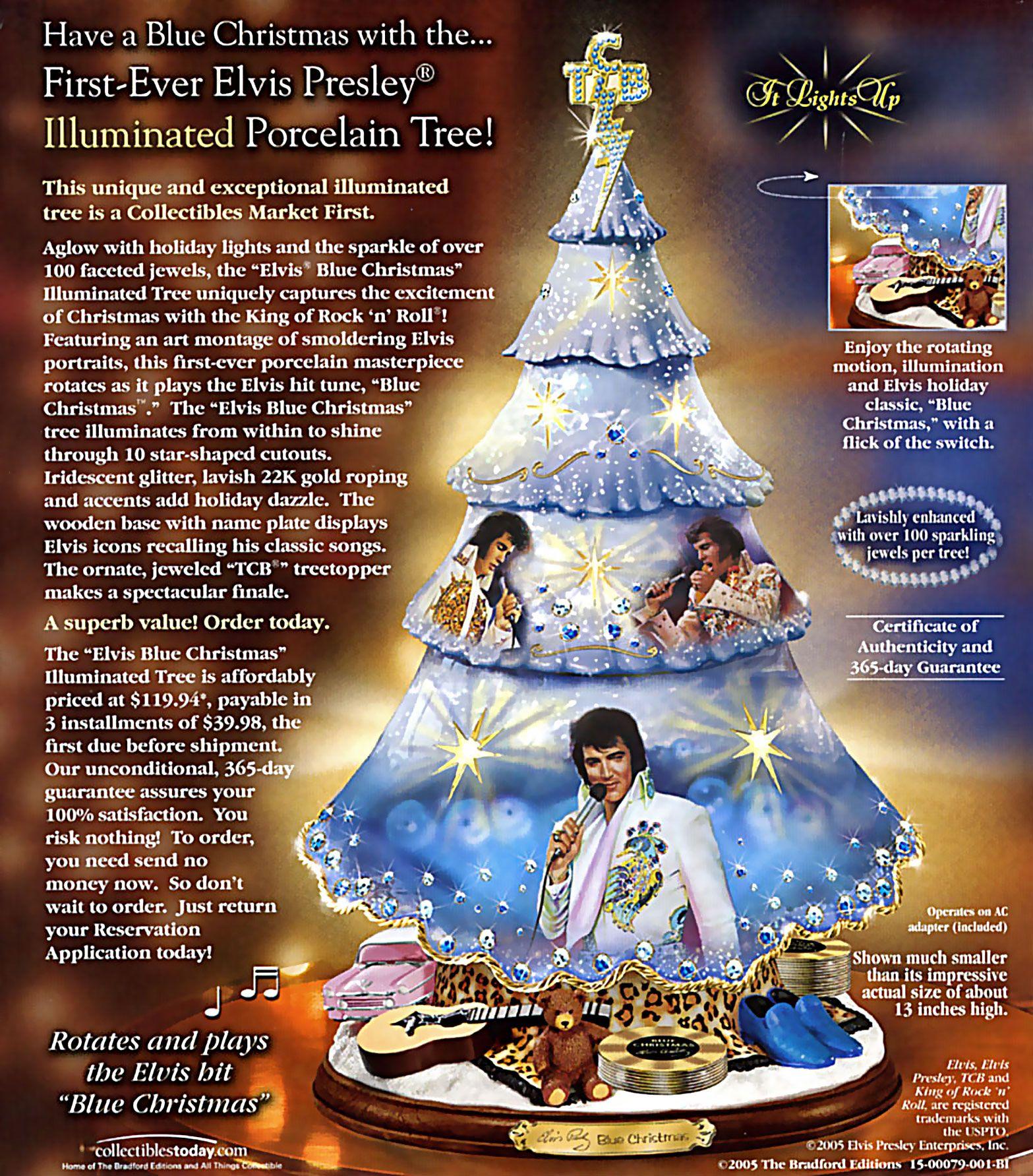 Elvis Presley Rotating Christmas Tree Ad Vintage Ads