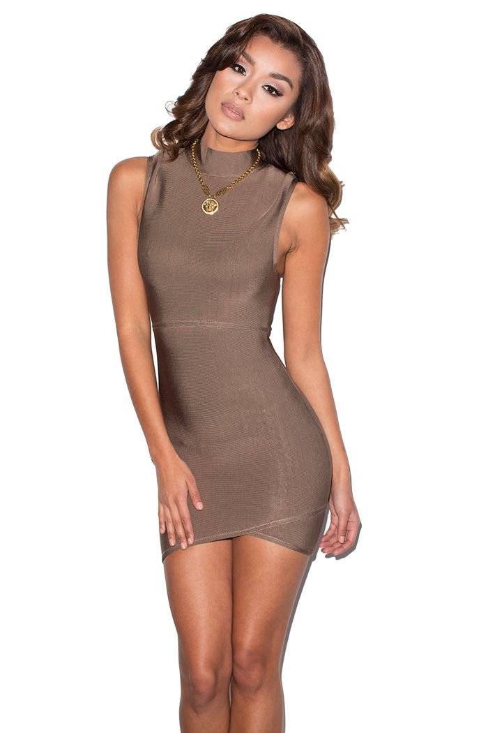 a37f499c4e24 Exposure' Taupe Cut Out Bandage Dress - Mistress Rocks | Clothes ...